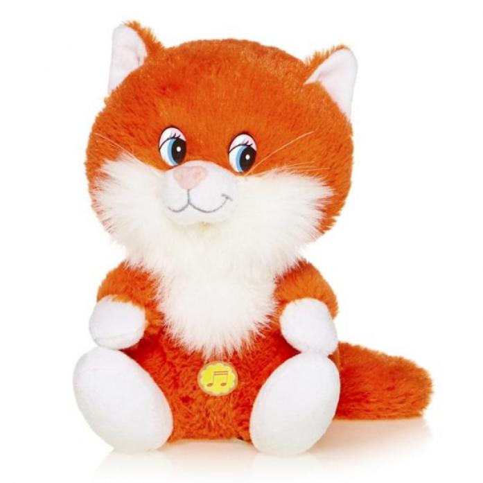 Мягкая игрушка MaxiToys Котенок Лапушка Рыжий Озвученный, 20 См MP-HH-R8985E