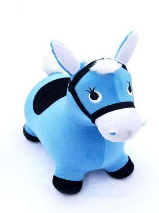 Лошадка-попрыгунчик Shantou Gepai Наша игрушка, голуб. 63797