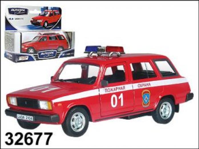 Машина Autotime мет. ЛАДА 2104,пожарная охрана 1: 34/39 32677W-RUS