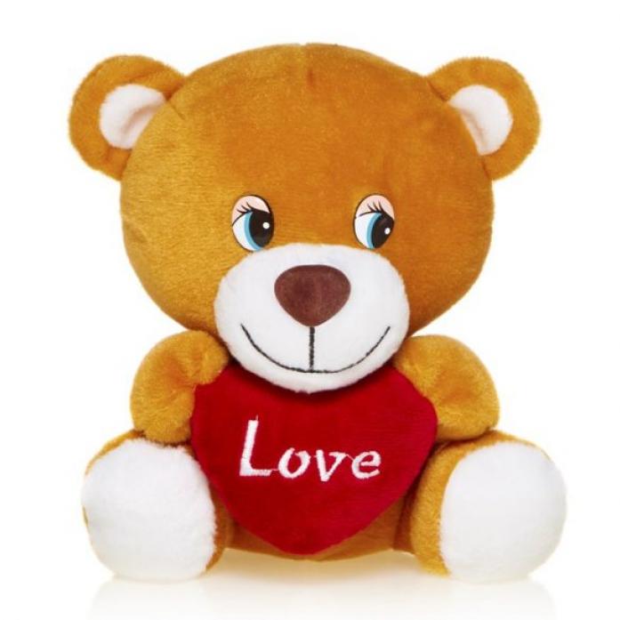 Мягкая игрушка MaxiToys Мишутка с Сердцем Озвученный 20 См MP-HH-R9035E