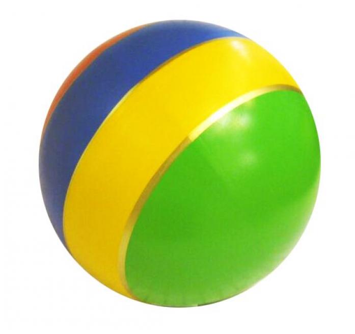 Мяч Мячи-Чебоксары D125 с полосой лак. с-21ЛП
