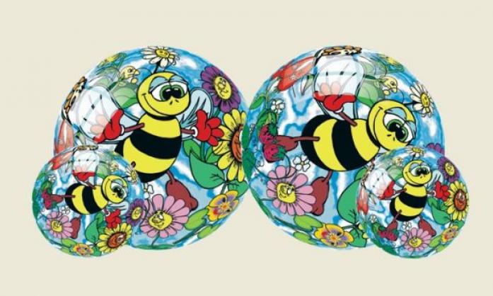 Мяч Dema-Stil Влюбленные пчелки 23см DS-PP 057