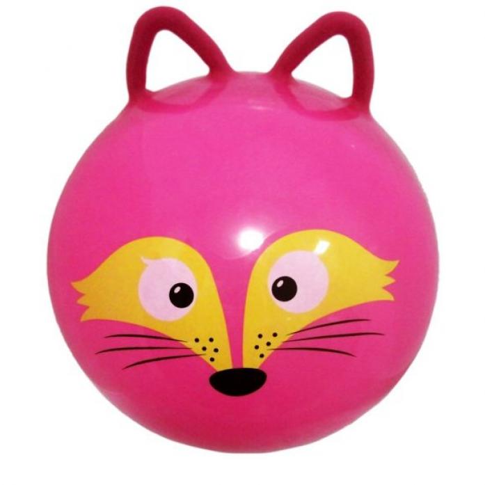Мяч Moby Kids прыгун 50 см Лисенок, с ушками 635196