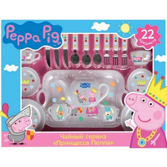 Набор посуды Росмэн Принцесса Пеппа, 22 пр., Peppa Pig 29700