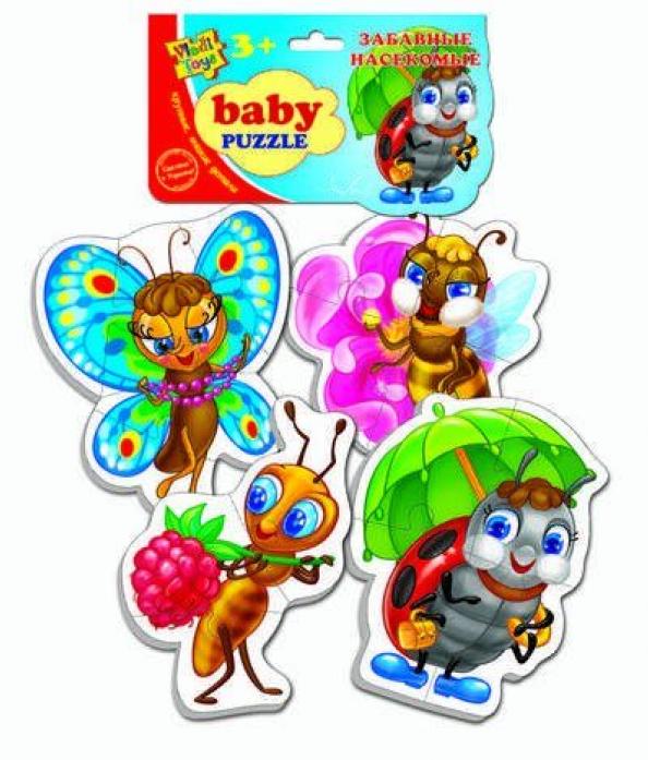 """Пазлы Vladi Toys мягкие Baby puzzle """"Насекомые"""" VT1106-06"""