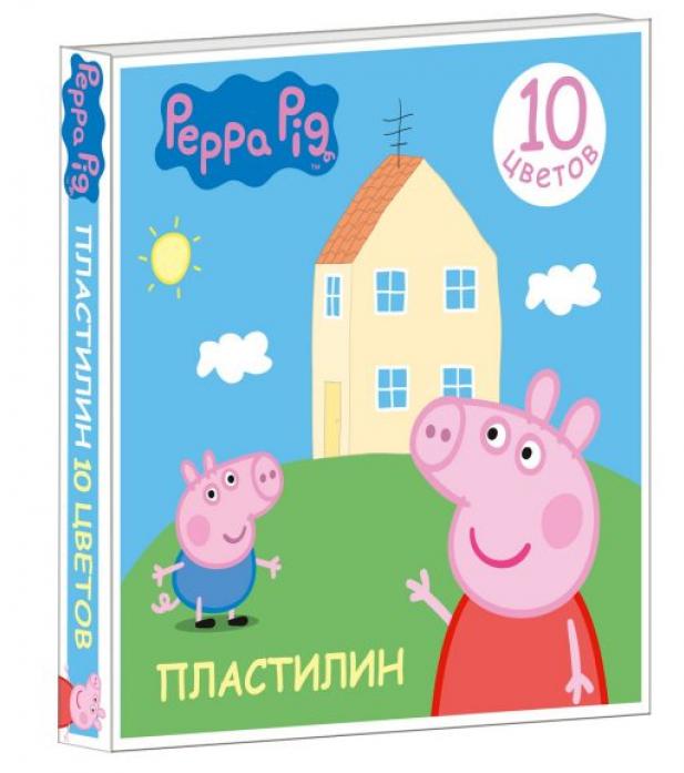 Пластилин Росмэн Свинка Пеппа 10 цв. 29603