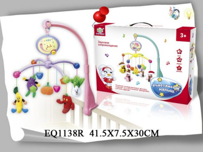 Подвеска S+S Toys на кроватку, муз., бат EQ1138R