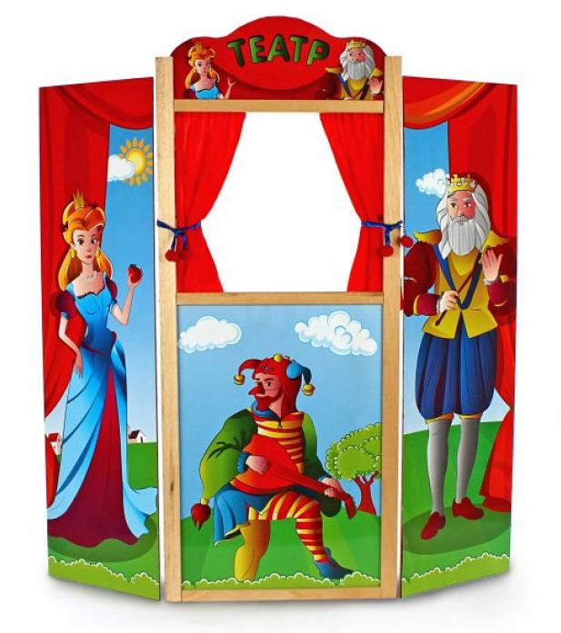 Ширма Жирафики для кукольного театра напольная, дерев. 68341