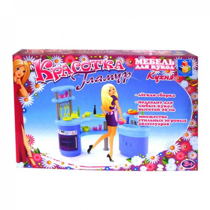 мебель для кукол 1toy кухня т54506 артикул 316461 купить недорого в