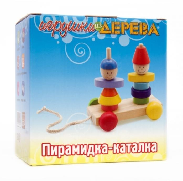 Пирамидка-каталка Мир Деревянных Игрушек Мальчик и девочка Д354