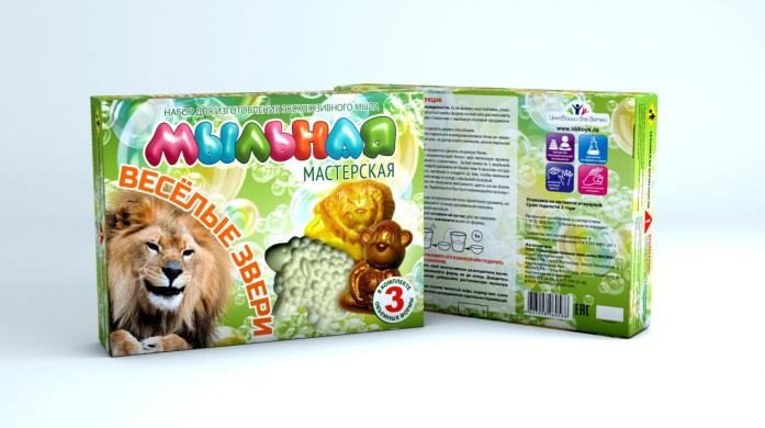 Набор Инновации для детей Мыльная мастерская. Веселые звери 748