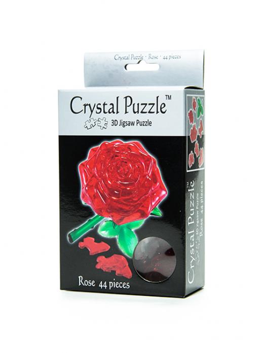 Головоломка Crystal Puzzle Роза красная 90113