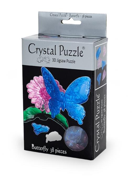 Головоломка Crystal Puzzle Голубая бабочка 90122