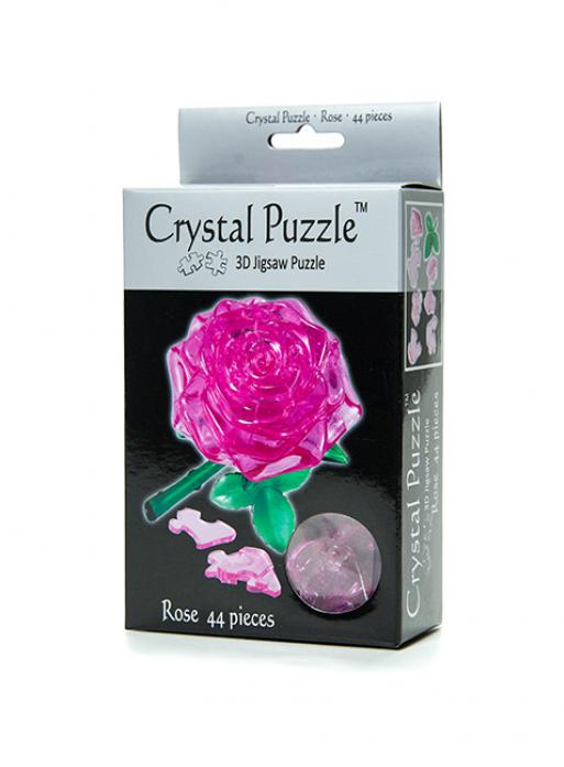 Головоломка Crystal Puzzle Роза розовая 90213