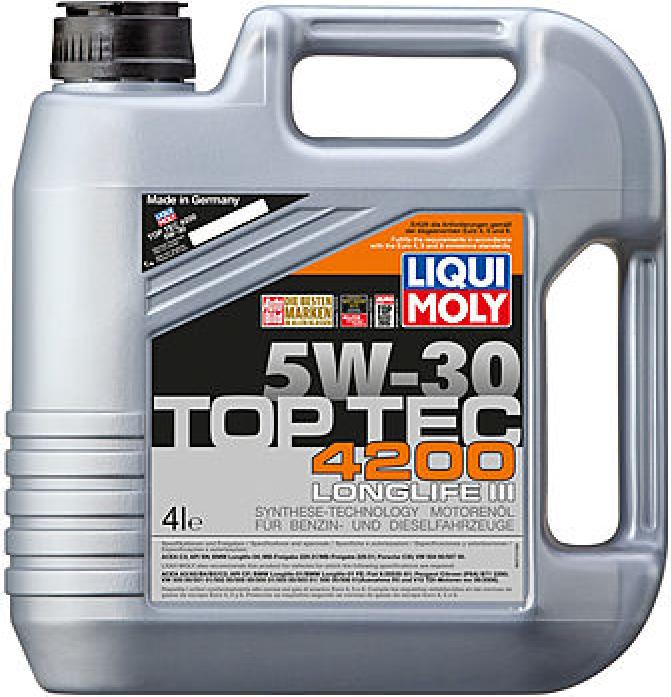 Масло моторное LIQUI MOLY Top Tec 4200 5w30 4л для Wolkswagen Audi Group 3715