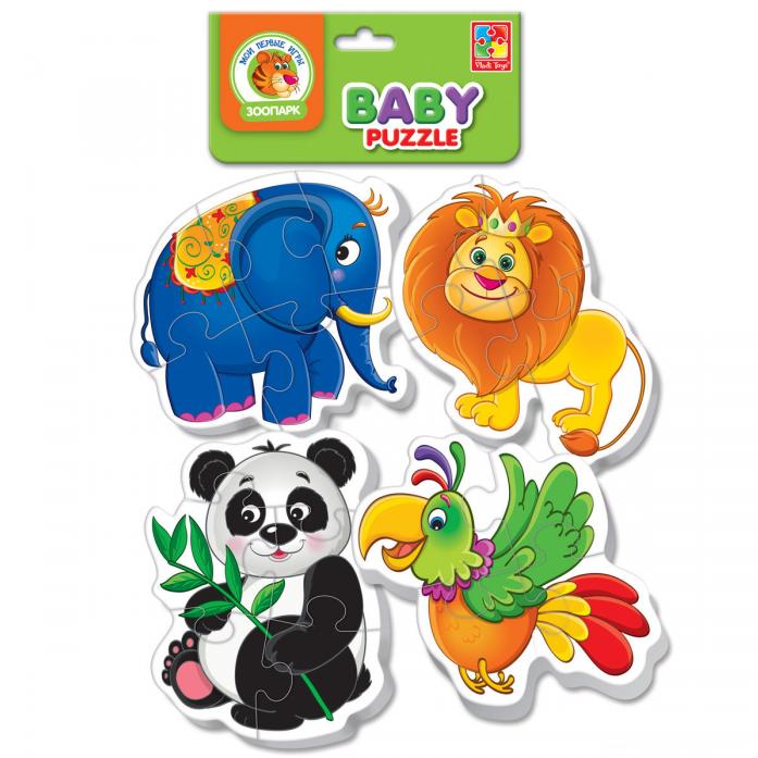 Пазлы мягкие Vladi Toys Baby puzzle Зоопарк VT1106-50