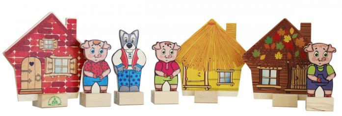 Игровой набор Краснокамская игрушка Персонажи сказки Три поросенка Н-11