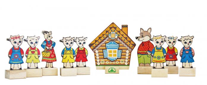 Игровой набор Краснокамская игрушка Персонажи сказки Волк и семеро козлят Н-12