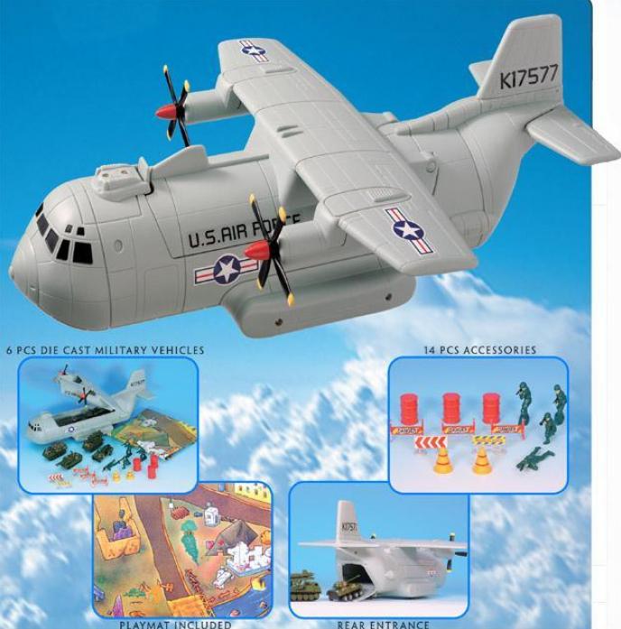 Игрушка Yat Ming Военный транспортный самолет 98534