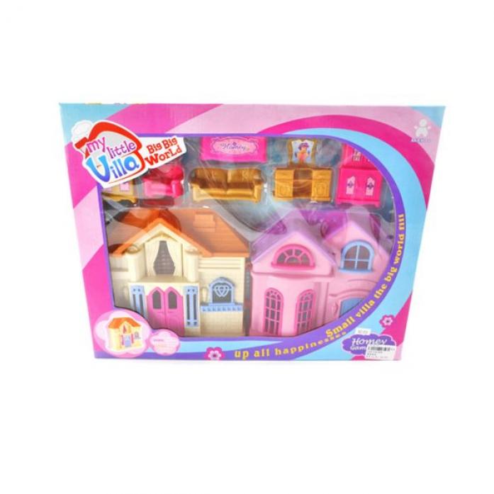 """Кукольный домик Shantou Gepai """"Вилла"""" с мебелью 808"""