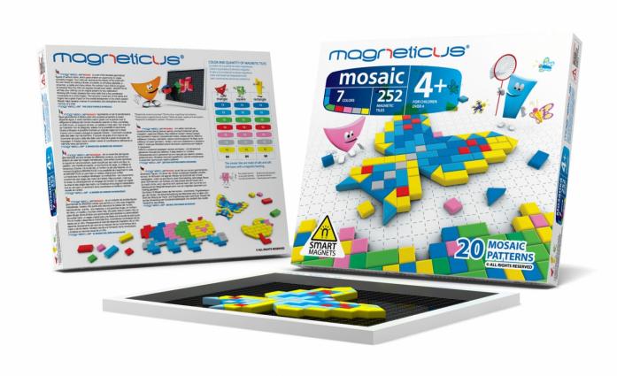 Мозаика магнитная Magneticus 252 элементов, 7 цветов, 20 этюдов ММ-0250