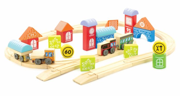 Игровой набор Мир Деревянных Игрушек Трасса Город Д408