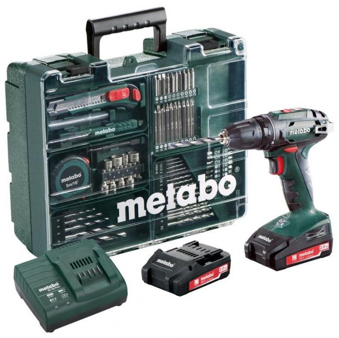 Винтоверт Metabo BS 18 с набором оснастки 602207880