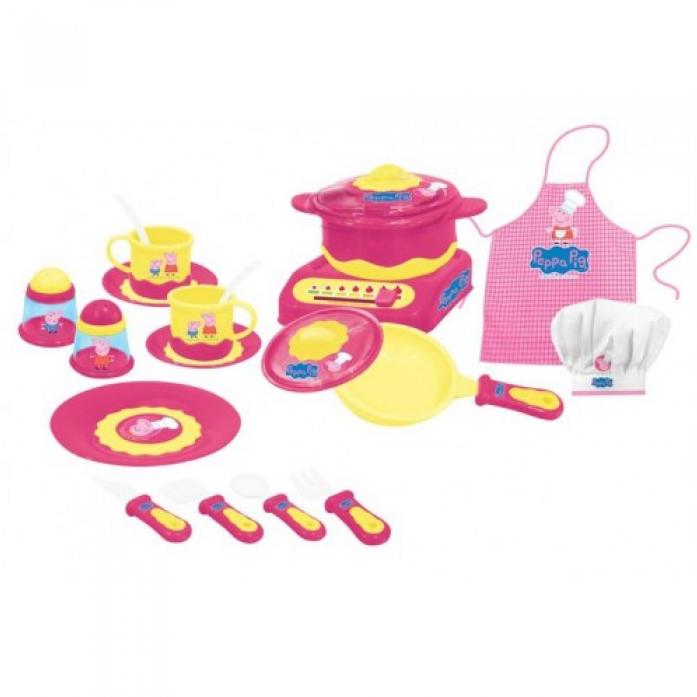 Набор игрушечной посуды Росмэн Peppa Pig Пеппа-Повар 20 предметов 29701