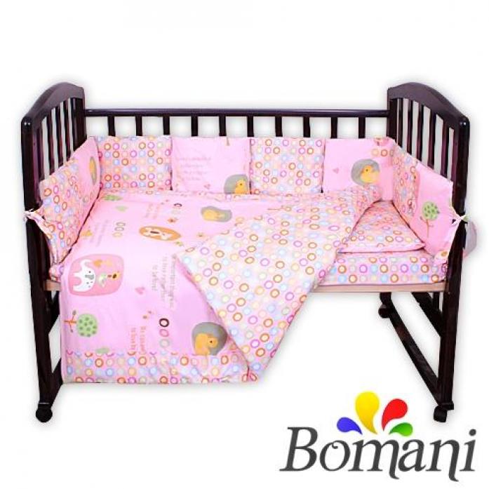 Комплект в кроватку Bomani Кольца 29 предметов К-Б4/4/kol/pink