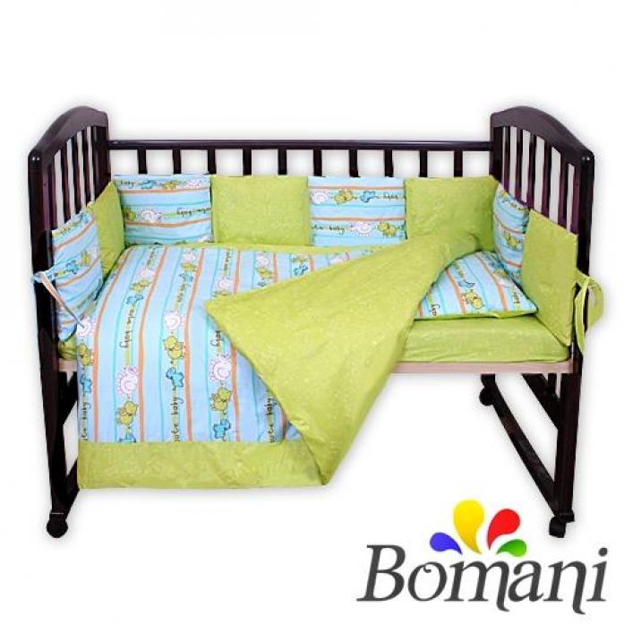 Комплект в кроватку Bomani Милый малыш 29 предметов К-Б4/4/mal/blue