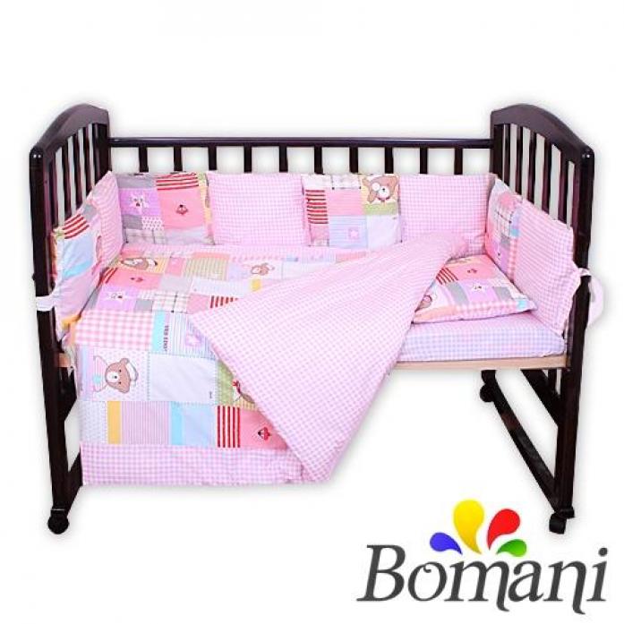 Комплект в кроватку Bomani Морское приключения 29 предметов К-Б4/4/sea/pink