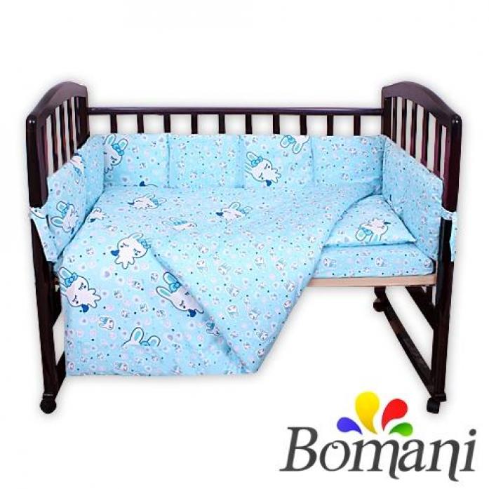 Комплект в кроватку Bomani Сонный заяц 29 предметов К-Б4/4/sleep/Bunny /blue