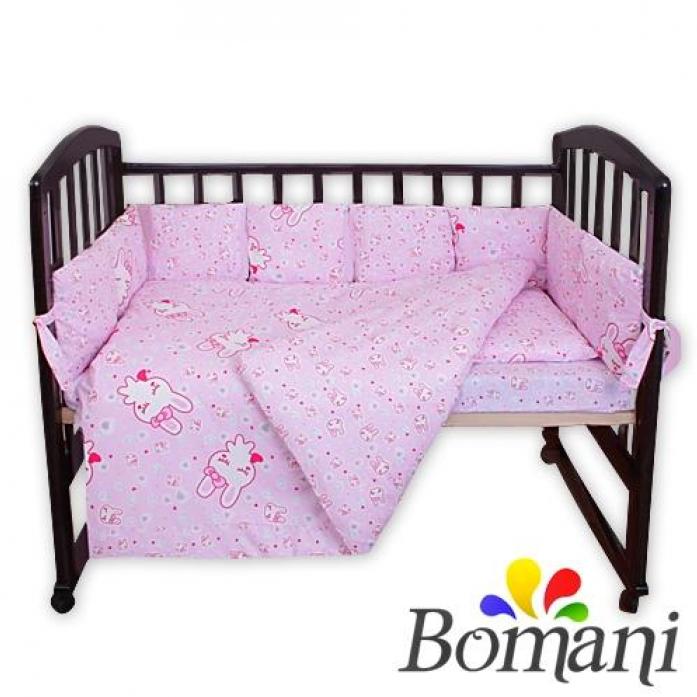 Комплект в кроватку Bomani Сонный заяц 29 предметов К-Б4/4/sleep/Bunny /pink