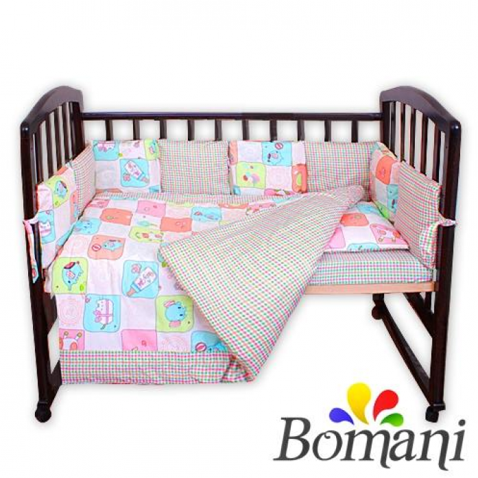 Комплект в кроватку Bomani Ферма 29 предметов К-Б4/4/ferma/pink