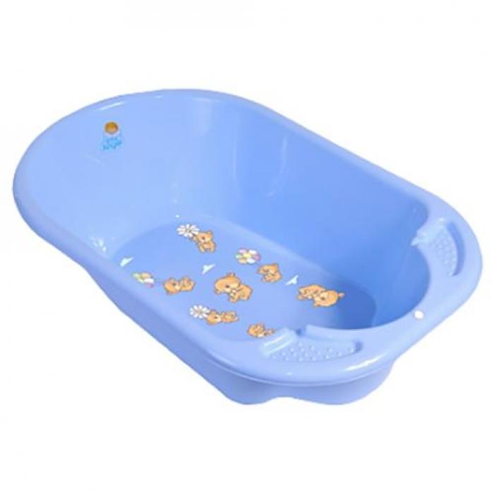 Ванночка Пластик-центр Дельфин с рисунком 2904LA-ВВ-НК-BL Голубая