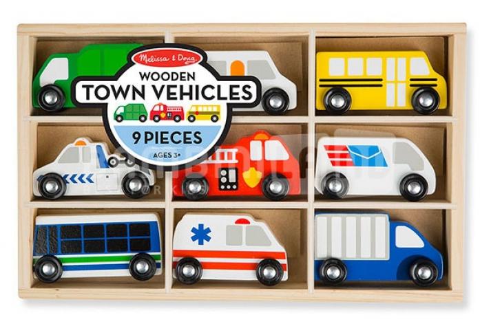 Набор Melissa&Doug Деревянные игрушки городской транспорт 3170M