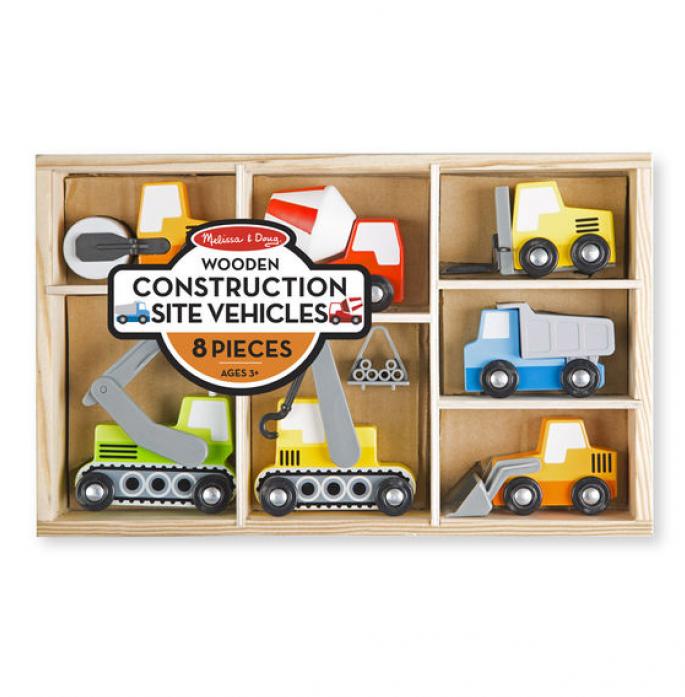 Набор Melissa&Doug Деревянные игрушки строительные машины 3180