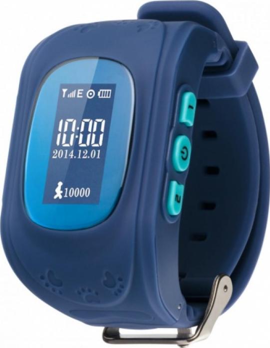 Часы Кнопка жизни GPS трекер K911 синие