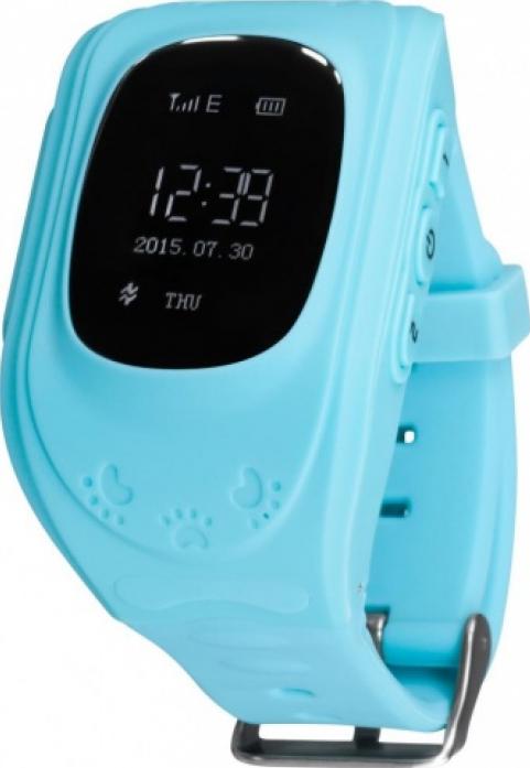 Часы Кнопка жизни GPS трекер K911 голубые
