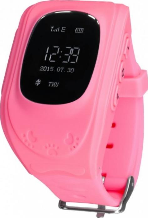 Часы Кнопка жизни GPS трекер K911 розовые