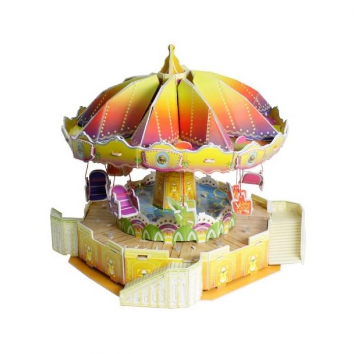 3D-пазл с механизмом вращения 1toy Цепная карусель 103 детали Т59383