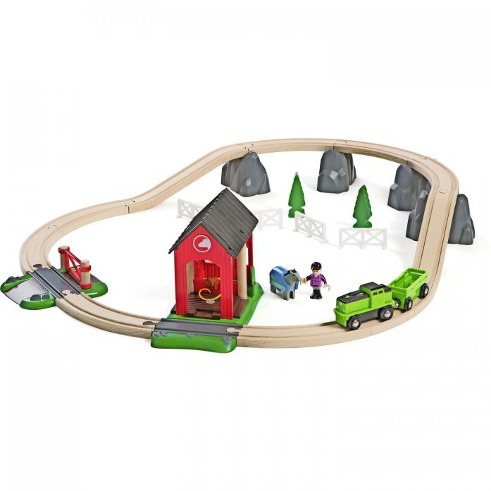 Железная дорога Brio Кантри - Загородная лошадиная ферма 33790