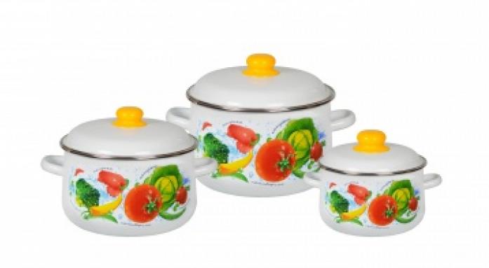 Набор посуды Стальэмаль 1С408 Овощной фреш