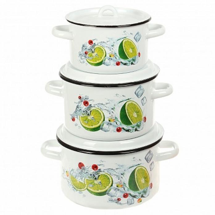 Набор посуды Стальэмаль 1С33 Мохито