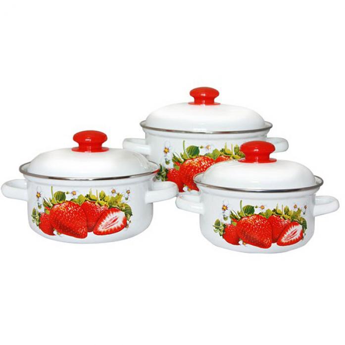 Набор посуды Стэма 124АП2/4 Сочная клубника