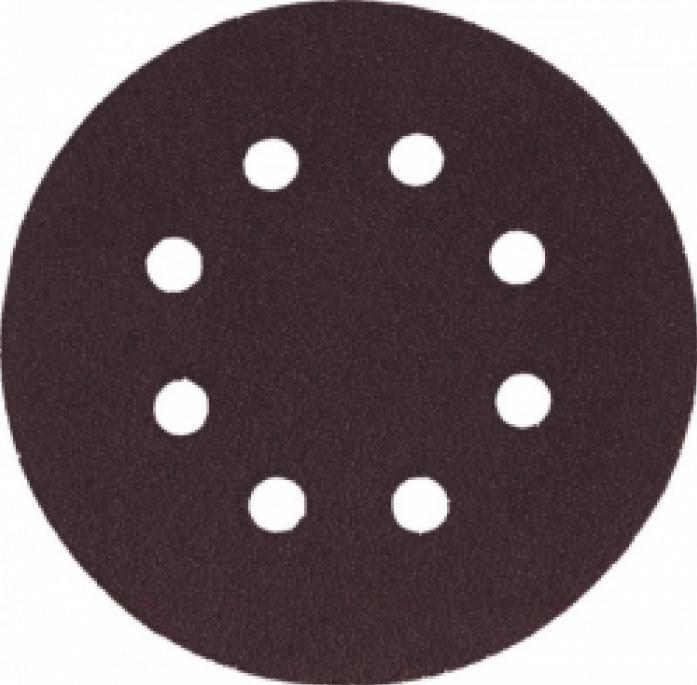 Круг шлифовальный FIT 39664 5шт 125мм с липучкой р80