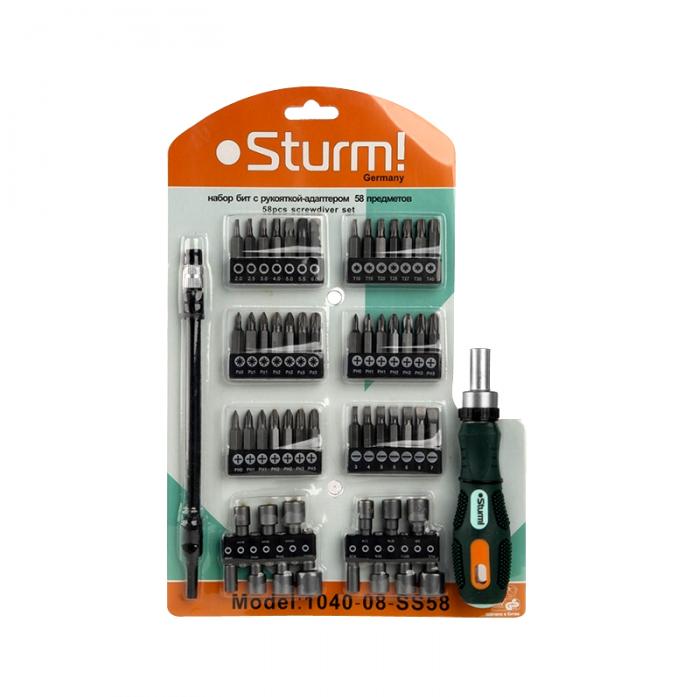 Отвертка с насадками Sturm 1040-08-SS58