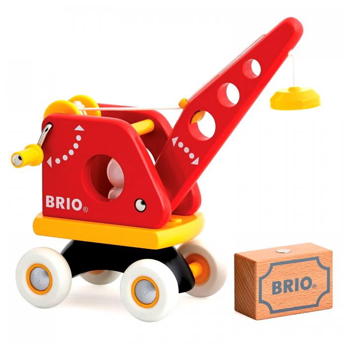 Деревянная игрушка Brio Подъемный кран с грузом 30428