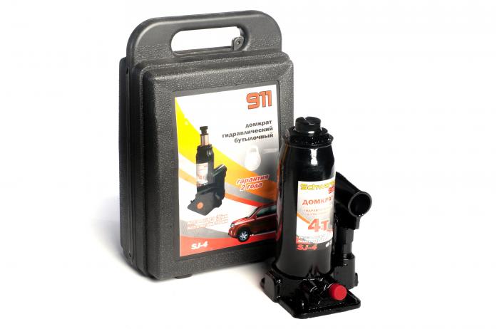 Гидравлический бутылочный домкрат SCHWARTZ 911 4т кейс ДОМК0005