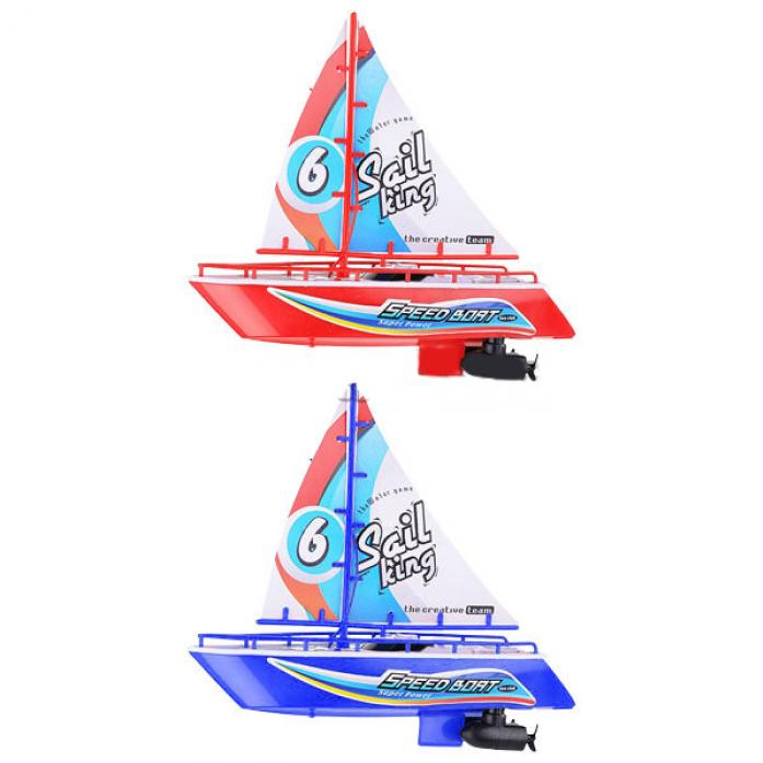 Яхта на радиоуправлении 1toy с парусом 25 см Т58534
